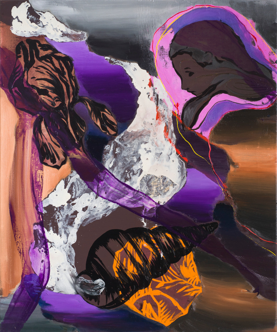 SPIRAX, 2017 / 2018, Oil on canvas, 120 x 100 cm.
