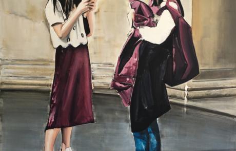 Koen Vermeule, Tate, 300 x 200cm, 2017 huile sur toile