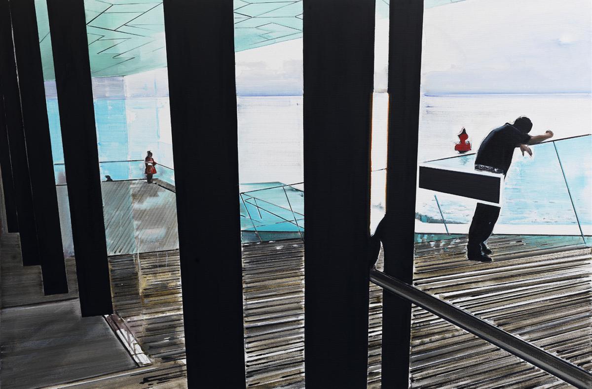 KOEN VERMUELE, EYE, 2016, Huile et acrylique sur toile, 120 x 180 cm
